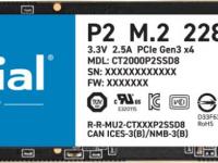 SSD жесткий диск M.2 2280 2TB P2 CT2000P2SSD8 CRUCIAL